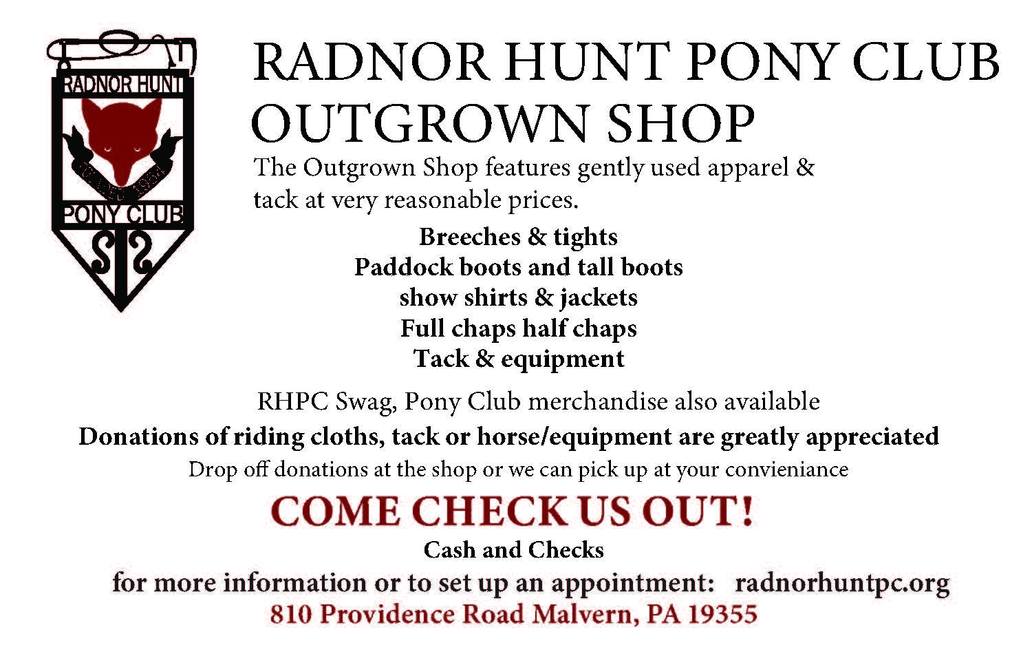 RHPC OUTGROWN SHOP AD 2018